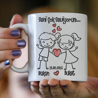 sevgiliye kupa bardak