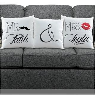 isme özel sevgili yastıkları