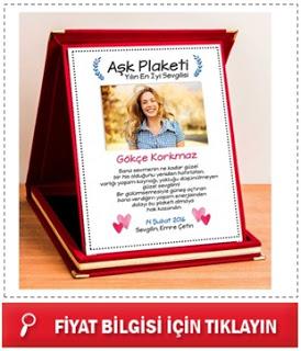 Sevgililere Özel Aşk Plaketi