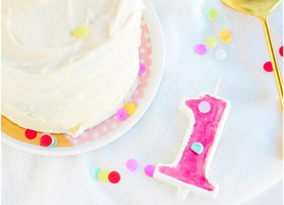 El Yapımı Doğum Günü Pasta Mumları