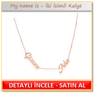 My name is - İki İsimli Kolye