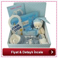 Puantiyeli kutuda dolu dolu bebek hediyesi