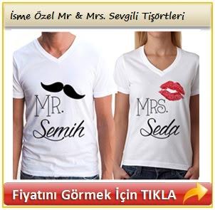 İsme Yazılı Sevgili Tişörtleri