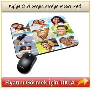 Kişiye Özel Sosyla Medya Mouse Pad