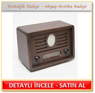 Nostaljik Radyo Ahşap Antika Radyo