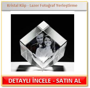 Kristal Küp Lazer Fotoğraf Yerleştirme