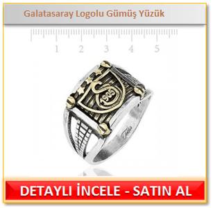Galatasaray Logolu Gümüş Yüzük