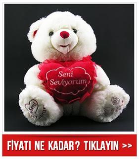 Seni Seviyorum Kalp Taşıyan Peluş Ayıcık