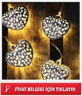 Kalp Şeklinde Solar Dekor LED Lambalar