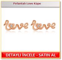 Pırlantalı Love Küpe