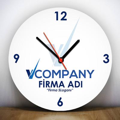Firmalara Özel Logo Baskılı Duvar Saati