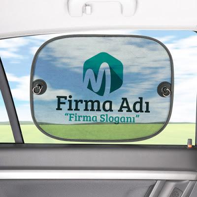 Firmalara Özel Logolu Oto Cam Gölgeliği