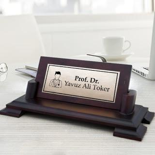 doktorlara özel masaüstü isimlik