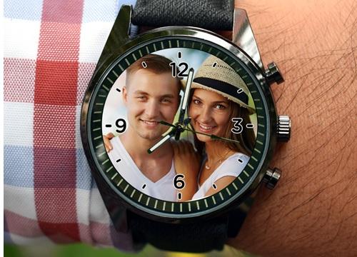 erkeğe hediye resimli kol saati