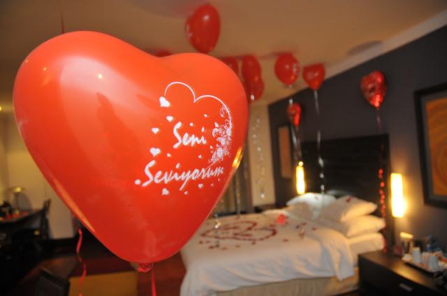seni seviyorum kalp balonları