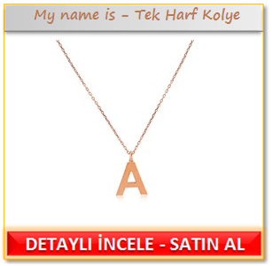 My name is - Tek Harf Kolye
