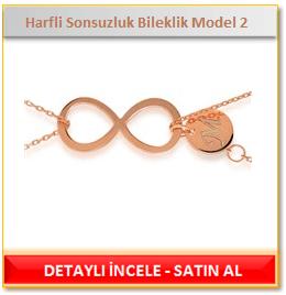 Harfli Sonsuzluk Bileklik Model 2