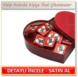 Kalp Kutuda Kişiye Özel Çikolatalar