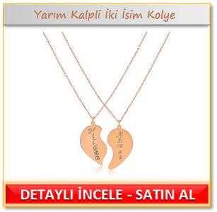 My name is Yarım Kalpli İki İsim Kolye