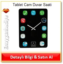 Tablet Cam Duvar Saati