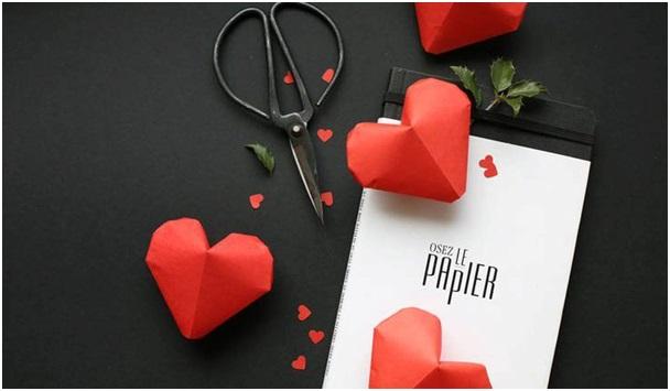 El Yapımı Origami Kalpler