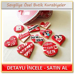 Sevgiliye özel kurabiyeler