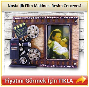 Nostaljik Film Makinesi Resim Çerçevesi