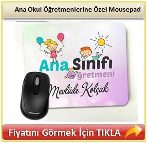 Ana Okul Öğretmenlerine Özel Mousepad