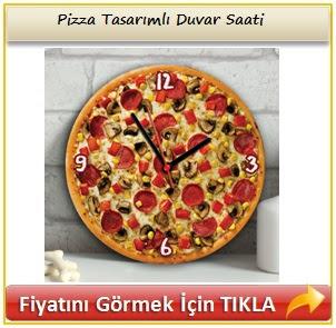 Pizza Tasarımlı Duvar Saati