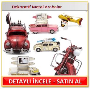 Dekoratif Metal Arabalar
