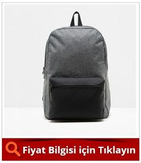 GRİ ERKEK CEP DETAYLI ÇANTA