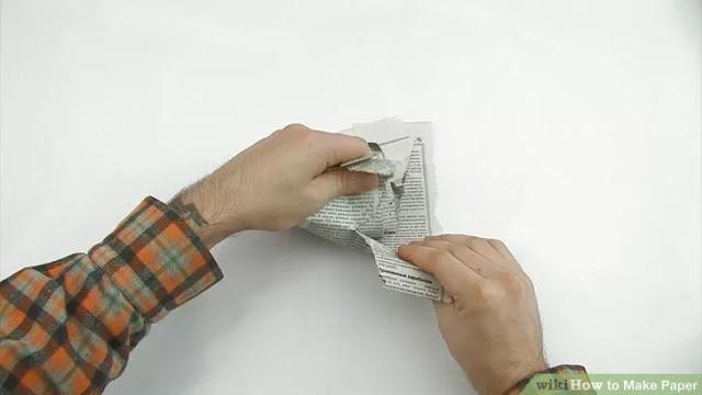 Gazete kağıtlarından Geri Dönüşüm Kağıdı Yapmak