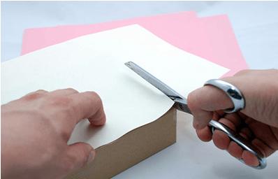 karton kutu ile hediye paketi hazırlama