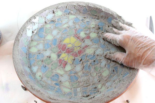 fayans desenli mozaik tabak nasıl yapılır