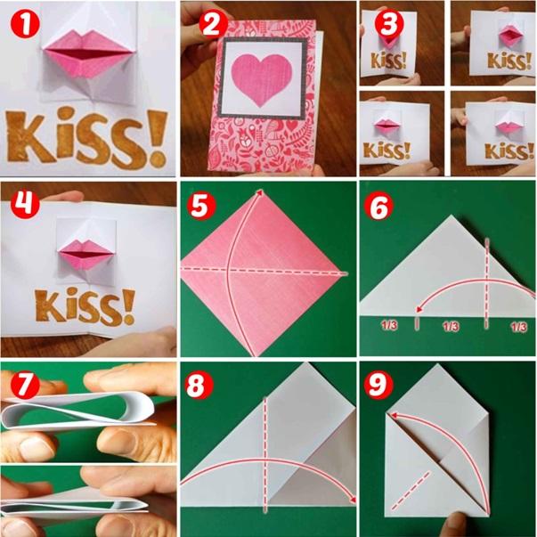 El yapımı origami öpücük