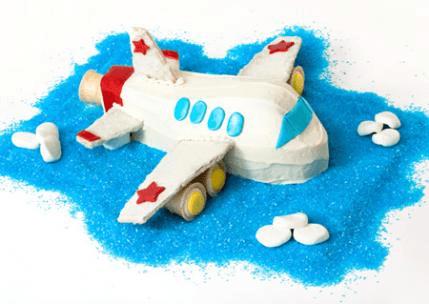 Uçak Tasarımlı İlginç Doğum Günü Pastası