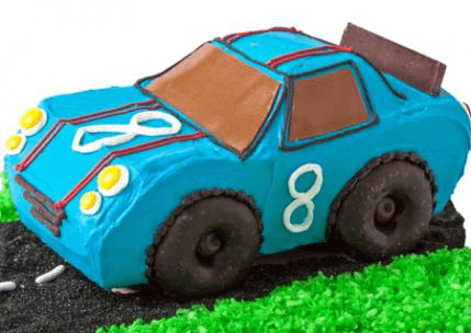 Araba Tasarımlı Doğum Günü Pastası