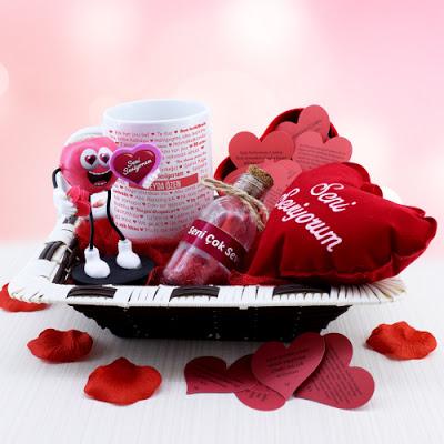 Sevgilime Seni Seviyorum Hediye Sepeti