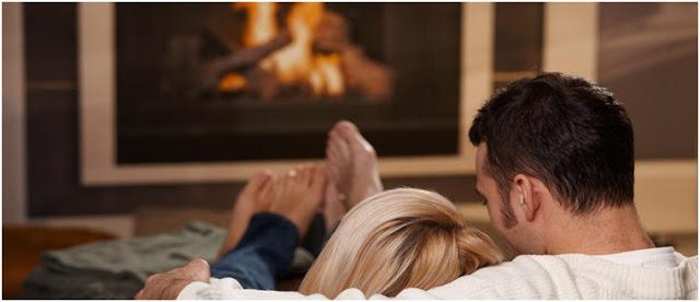 sevgiliyle evde romantik anlar